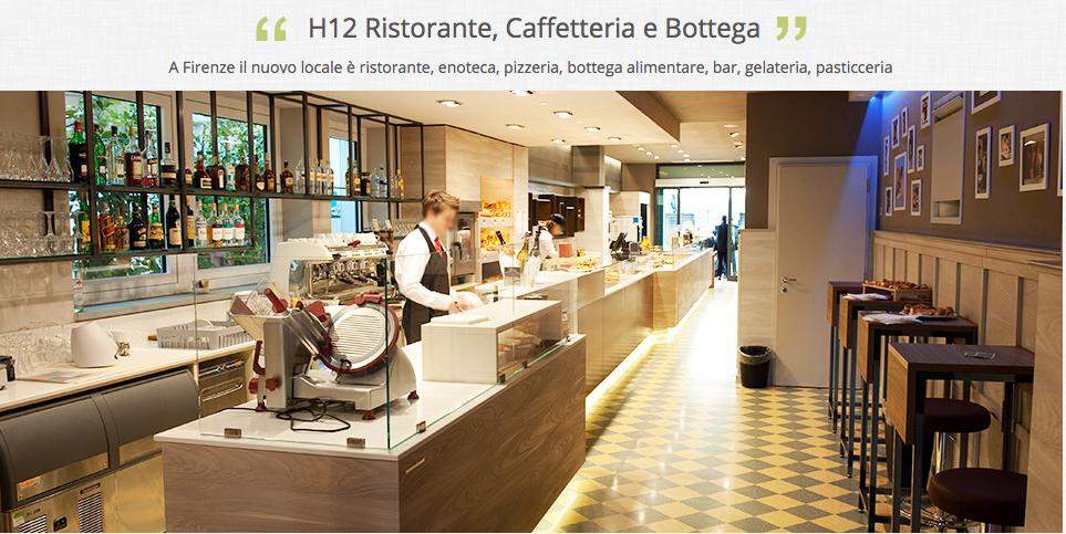H12 ristorante caffetteria bottega